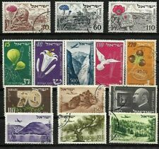 ISRAEL, NICE SELECTION OF 14 FINE USED STAMPS .. 1952-1954.
