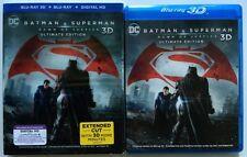 DC BATMAN V SUPERMAN DAWN OF JUSTICE 3D /2D BLU RAY 3 DISC LENTICULAR SLIPCOVER