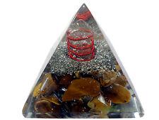 25mm Tiger Eye Crystal Healing Orgone Pyramid Clear Crystal Pyramid Table Décor