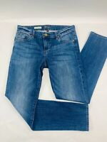 KUT From The Kloth Womens Jeans 4 Blue Catherine Boyfriend Slim Whiskers Faded