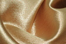 Crepe Back Satin Bridal Fabric GOLD Drapery Soft 60 WIDE 30 YARD Roll WHOLESALE