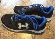 Under Armour UA Micro G Engage BL H Running Shoes Black / Blue  US 11.5