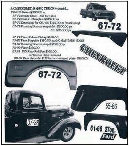 67-72 Chevrolet C50-60 Truck SHOWCARS Right Fender Extension (FM160)