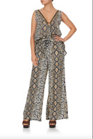 new CAMILLA FRANKS KAKADU BOO LACE UP FRONT FLARED PANT L layby availab