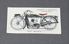 CIGARETTES LAMBERT BUTLER CARD MOTOR CYCLES 1923 N°33 NEW IMPERIAL MOTO