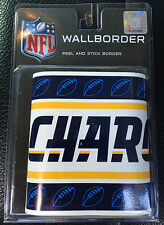 NFL Football SD San Diego Los Angeles Chargers Peel Stick Wall Paper Border Roll