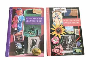 Vtg The Golden Book Encyclopedia Volumes 5 & 6 Hardcover 1960
