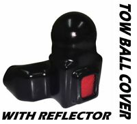Towball Cover Boot with Reflector Tow Ball Bar Protector Boot Plastic/Rubber Cap