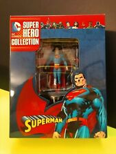DC COMICS SUPERHERO COLLECTION SUPERMAN  EAGLEMOSS 1:21 METALLIC RESIN NOS