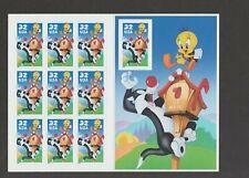 US 1998 32c Sylvester & Tweety Bird Sheet of 10 Stamps Mint!