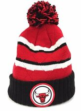 Chicago Bulls Mitchell & Ness NBA High 5 Quilted Cuff Beanie Knit Cap Hat