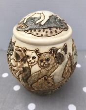 CATS JARDINIA TRINKET POT ~ MARTIN PERRY STUDIOS, HARMONY KINGDOM 'CATS GALORE'