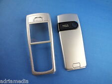 Original Nokia 6230i 6230 Mobile Phone Cover Front Back Cover Silver Silver Battery Cover