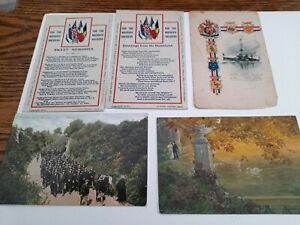Military WW1 Patriotic poems Mrs Backhouse & other ww1 cards