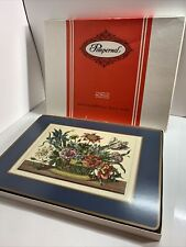 New listing Pimpernel Floral Array Placemats Box Of 4 Cork Back