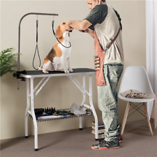 36� Dog Grooming Loops Table Arm Adjustable Fold up Salon Table for Dogs Used