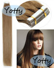 """Seamless Tape in Skin Weft Indian Remy Human Hair Extensions 16"""" 18"""" 20"""" 22"""" 24"""""""