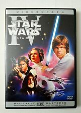 Star Wars: Ep IV (A New Hope) Remastered Widescreen Ed. w/insert (DVD 2004) RARE