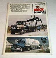 1980 Mack Truck Bulldog Original Brochure The Famous Mack Frame Catalog 1A-109-1