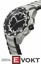 Original Mercedes-Benz Wristwatch Mens Trucks Black / Silver Stainless Steel