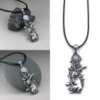 Fashion Women Men Rabbit Chain Pendant Boho Choker Chain Necklace Jewelry Silver