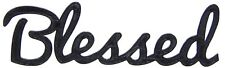 Blessed Word Art Sign Home Kitchen Decor Wall Hanging Cursive Script Typography