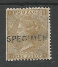 Sg86s The Scarce 1862 Qv 9d Bistre (Ge) Specimen Fresh Unused Cat £750