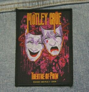 Motley Crue Theatre of pain  sew  on patch Official merchandise metal music