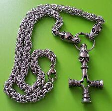 Viking Dragon Chain with Dragon Mjölnir Pewter Pendant - Thor's Hammer Mjolnir