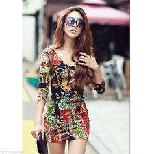 V-Neck Party Geometric Dresses for Women