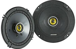KICKER 46CSC654 CS Series 6.5 inch Car Audio Coaxial Speaker with Woofer - Black