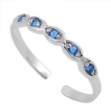 Silver Adjustable Infinity Toe Ring Sterling Silver 925 Best Deal Jewelry BlueCZ