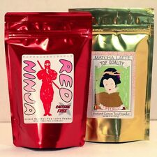 Matcha Green Tea Latte Mix 8oz bag + Red Ninja Rooibos Tea Latte 8oz bag Set