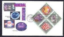 1541a * MINERAL HERITAGE * BLOCK OF 4 ON FDC *