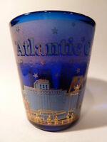 ATLANTIC CITY NEW JERSEY COBALT BLUE SHOT GLASS SHOTGLASS
