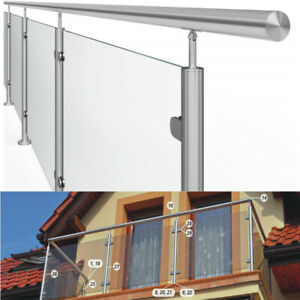 Edelstahlgeländer Bausatz Glasgeländer Geländer aufgesetzt Balkongeländer Balkon