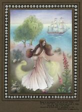 """Unframed Original 1980 Watercolor Painting titled """"Le Beau Navire (Baudelaire)"""""""