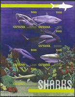 GUYANA 2014 SHARKS SHEET  MINT NH