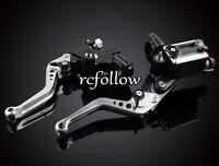 Motorcycle Clutch Brake Levers Master Cylinder Kit Reservoir Set OEM Universal