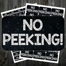 Christmas Stickers No Peeking Self Adhesive 21 Or 65 Per Sheet