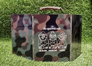 Carp Fishing Stove Windshield,  Camo printed aluminium, Three Unwise Monkeys