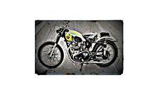 1954 Matchless G9B Bike Motorcycle A4 Retro Metal Sign Aluminium