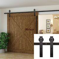 sliding barn door hardware steel rustic interior closet doors wood black antique ebay. Black Bedroom Furniture Sets. Home Design Ideas