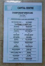Wrestling Poster Intercontinental Championship Randy Savage vs Ricky Steamboat
