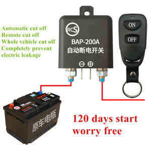 Wireless Remote Car Battery Quick Cut-off Disconnect Master Kill Switch System