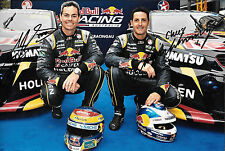 Whincup & Lowndes SIGNED 12x8, Team Triple Eight , Aussie V8 Portrait 2015