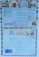 CHILE CERTIFICADO COVER 1960s CORREO AEREO STAMPS ANCIENT LETTERS POSTAL HISTORY