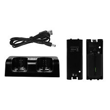 Gpct Wii Remote Dual Charger Dock With 2 Rechargeable Batteries & Docking Statio