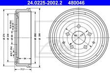 2x Bremstrommel für Bremsanlage Hinterachse ATE 24.0225-2002.2