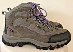 women's Hi-Tec Skamania Gray/Purple High Top Hiking Boots Sz. 10W